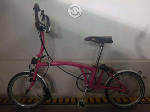 Bicicleta Plegable BROMPTON Color Rosa