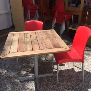 Mesa de herreria c 4 sillas juego completo posot class - Sillas y mesas exterior ...