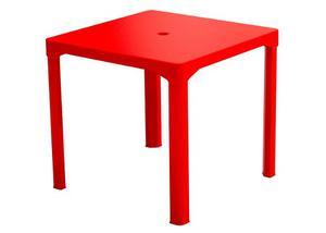Mesa De Plastico Forte Cuadrada Roja