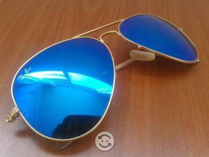 9ad643ebff Ray ban aviator espejo azul rb gota chica 55   Posot Class