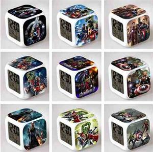 Reloj Cubo Led Advengers