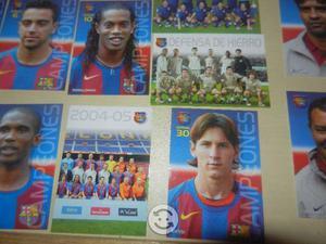Tarjetas de coleccion fc barcelona