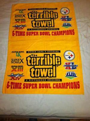 Toalla Terrible Pittsburgh Steelers Terrible Towel