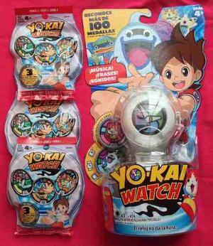 Yokai Watch. Paquete 9 Medallas Serie 2 Y Reloj.envío