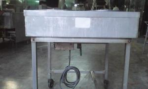 mesa caliente (baño maría) en acero inoxidable usada