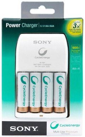 Cargador De Baterias Aa Y Aaa Sony Cont Cargador Y 4 Bate Aa