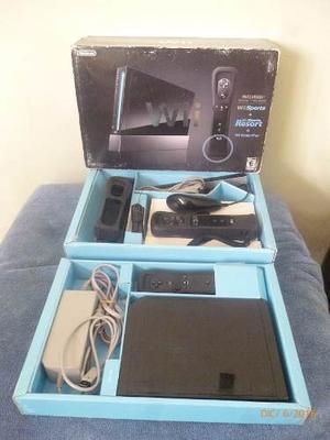 Nintendo Wii Negro Con Dos Controles