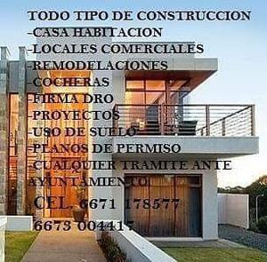 SERVICIOS DE ARQUITECTO DRO, CONSTRUCCION, permisos de