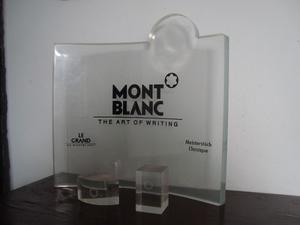 Exhibidor De Plumas Con 2 Bases Montblanc Acrilico Aleman