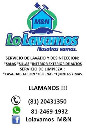 Lavado de salas en Monterrey