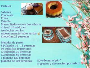 Pasteles en venta