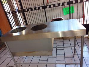 barra de acero inoxidable para tacos (baño maria)