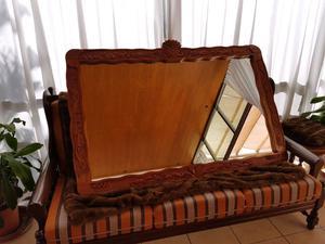Espejo de madera tallado y labrado a mano posot class for Espejo marco madera