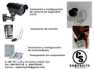 Instalación de cámaras de seguridad, interfon y