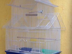 Jaula para agapornis, canarios, jilgueros y aves de pequeño