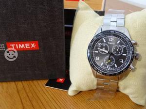 Reloj timex nuevo,acero inoxidable,cronograf,fecha
