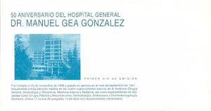 Sobre Primer Día 50 Aniversario Del Hospital General Dr.
