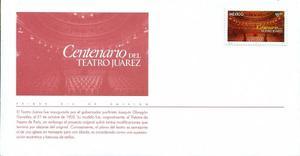 Sobre Primer Día Centenario Del Teatro Juarez