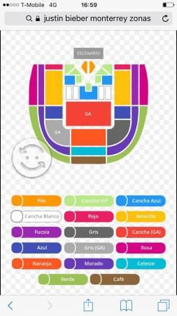 4 boletos para concierto de Justin Bieber