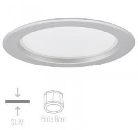 Empotrado Circular Led Aluminio Satinado Tl