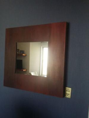 Espejo con marco de herreria negro cuadrado posot class for Precio de espejos con marco