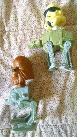 Figuras muñecos starwars chewie y stormtroper colección mc