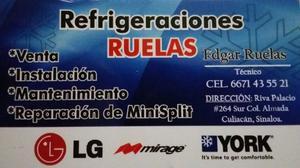 reparación, instalacion y mantenimiento de minisplit