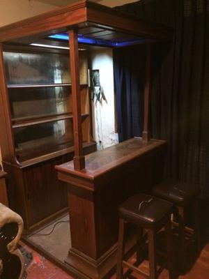 Cantina bar de madera para casa posot class for Vendo bar de madera
