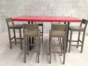 Fina mesa comedor de cuarzo de 120x120 posot class for Comedor alto