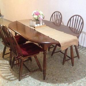 Comedor de Madera de Nogal, 6 sillas