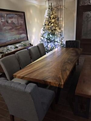 Mesa de comedor tronco de madera de parota posot class for Comedor 10 personas