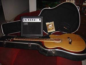 Guitarra Electroacustica Caraya C. Estuche F550ceq/n