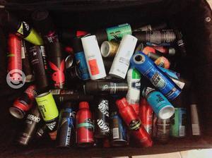 Latas de desodorantes en aerosol