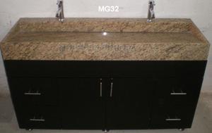 Mueble para lavabo cubierta d porcelanato d 80x60 posot - Precio mueble bano ...
