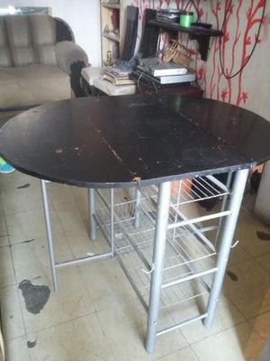 Mesa de madera 2 en 1