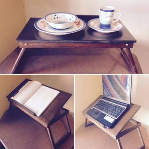 Mesa plegable de madera para Laptop o servicio a cama.