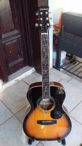 Paquete Guitarra Acústica Mitchell Mo100s Tapa Sólida