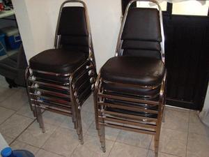 Lote de sillas pl sticas y acojinadas usadas posot class for Sillas de oficina usadas