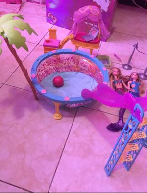 Lote juguetes niña, barbies, bratz, piscina, accesorios