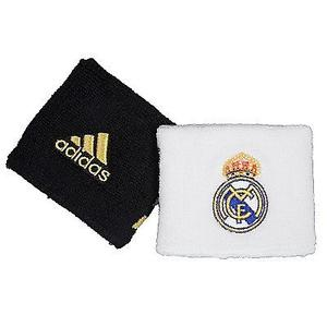 REAL MADRID MUÑEQUERAS ADIDAS BORDADAS FUTBOL EUROPEO UEFA