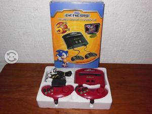 Consola Sega Genesis Con 5 Juegos Y 2 Controles