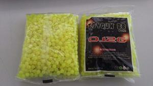 Balines Airsoft Bbs 6 Mm 0.12 Grs Polimero  Pzas