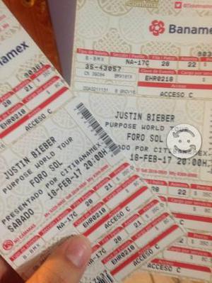 Boletos para el concierto de Justin Bieber