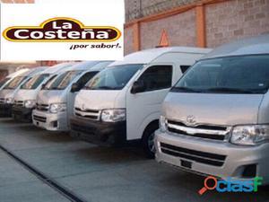 Empresa La Costeña vende Toyota Hiace de pasajeros modelo