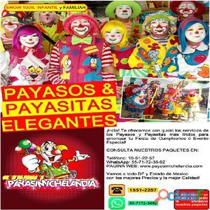 Payasos y Payasitas para tu Fiesta Show 100% Infantil y