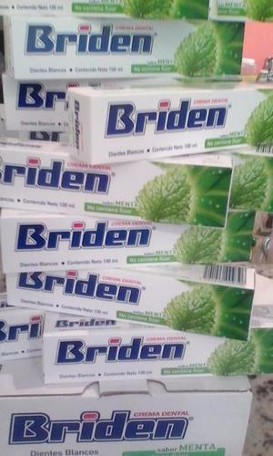 Briden Crema, Pasta Dental Sin Fluor 10 Piezas De 100 Ml