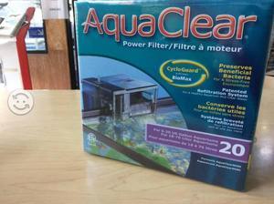 Filtro Aquaclear 20 cascada pecera 18-76 litros
