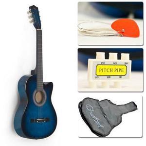 Azul De La Guitarra Acústica Cutaway Diseño W / Guitarra