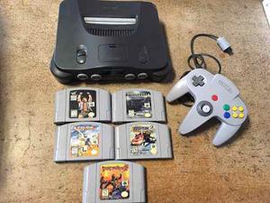 Nintendo 64 Con 6 Juegos Star Fox