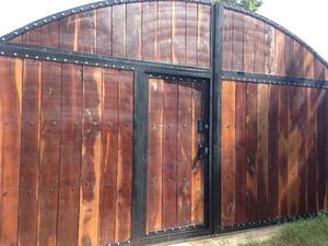 Porton de dos hojas saltillo posot class - Angulos de madera ...